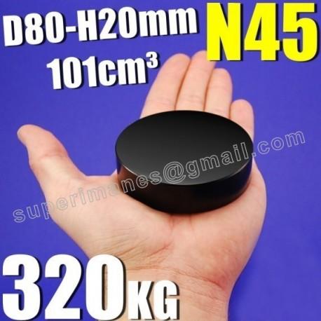 IMÁN NEODIMIO 80x20mm NEGRO
