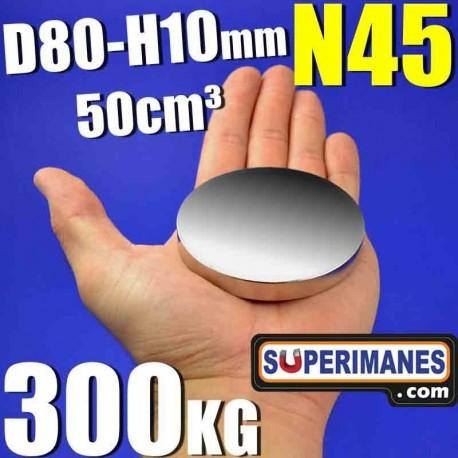 IMÁN NEODIMIO 80x10mm