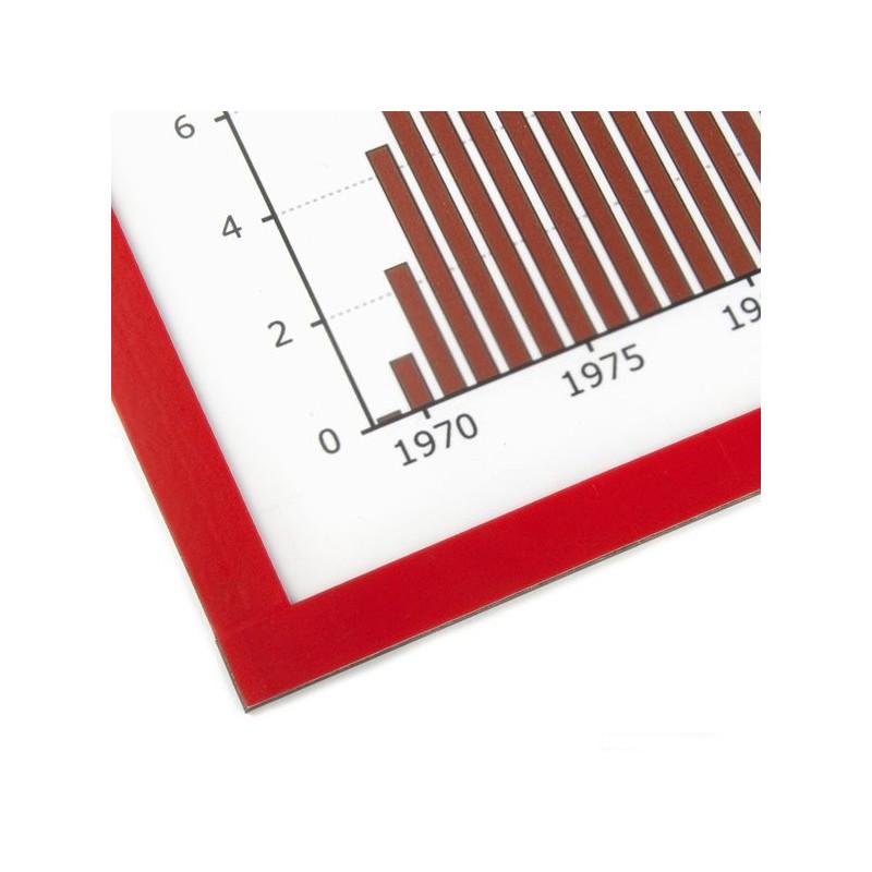 Marco magnético para colgar notas, formato A4