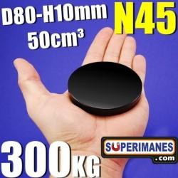 D-80-10 XXL Negro  Fuerza 300 kg