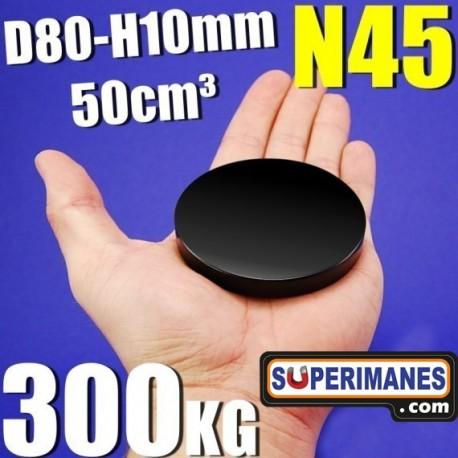 IMÁN NEODIMIO 80x10mm NEGRO