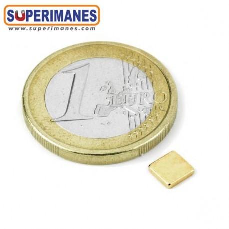 IMÁN NEODIMIO 5x5x1.2mm DORADO