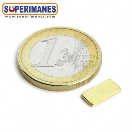 IMÁN NEODIMIO 10x5x1.2mm DORADO