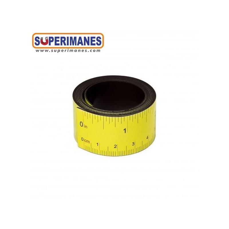 Regla magn/ética flexible de 100 cm 36 pulgadas amarillo